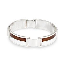 Gucci 925 Sterling Silver Enamel Vintage Bracelet