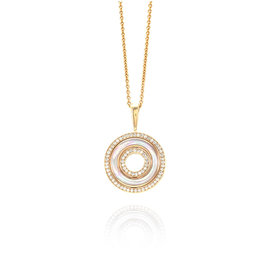 Kabana Mother-of-Pearl and Pave Diamond Necklace in 14K Rose Gold | FJ