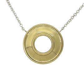 Tiffany & Co. Paloma Picasso 18K Yellolw Gold & 925 Sterling Silver Reversible Necklace