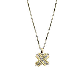 Tiffany & Co. 18K Yellow Gold 0.22ct. Diamond Pendant Necklace