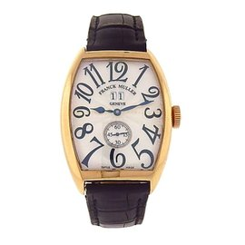 Franck Muller Cintree Curvex 6850 S6 GG 18K Yellow Gold Automatic 34mm Mens Watch