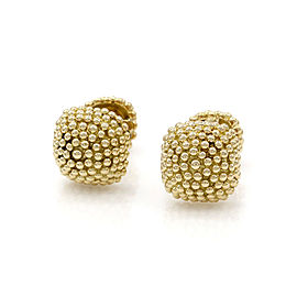 David Webb 18K Yellow Gold Bead Cufflinks