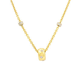 Aaron Basha 18K Yellow Gold 0.48ctw. Diamond Station Necklace