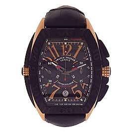 Franck Muller Conquistador Grand Prix 8900CCGP 18K Rose Gold and PVD Automatic 38mm Mens Watch