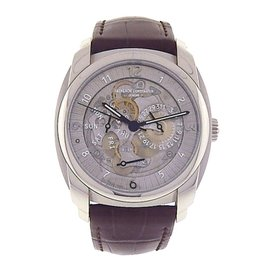 Vacheron Constantin Quai de l'Ile Day Date 85050 Palladium Skeleton 41mm Mens Watch