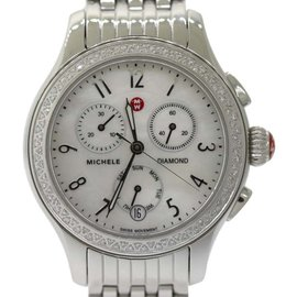 Michele Jetway 2 MW23A01A1025 Stainless Steel Quartz 35mm Womens Watch