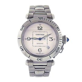 Cartier Pasha 2379 Stainless Steel with Silver Dial Automatic 38mm Mens Watch