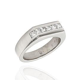 Platinum 1.40ctw. Princess Cut Diamond Ring Size 9