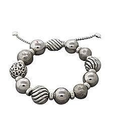 David Yurman Classic Ball 925 Sterling Silver Chain Bracelet