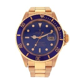 Rolex Submariner 16618 18K Yellow Gold Automatic 40mm Mens Watch