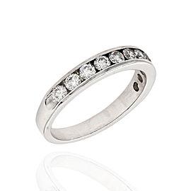 14K White Gold 1.21ctw. Channel Set Diamond Ring Size 8.75