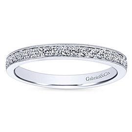 Gabriel & Co. 14K White Gold 0.24ctw. Pavé Diamond Band Size 6.25