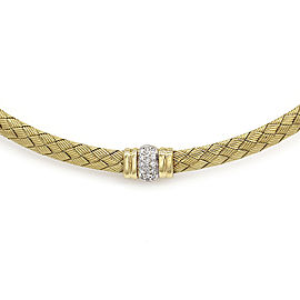 Roberto Coin Pave 18K Yellow Gold Diamond Necklace