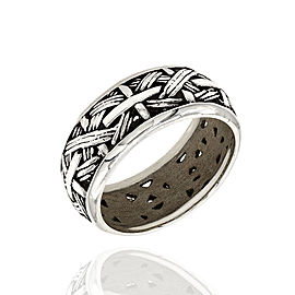 John Hardy Bamboo 925 Sterling Silver Ring Size 10