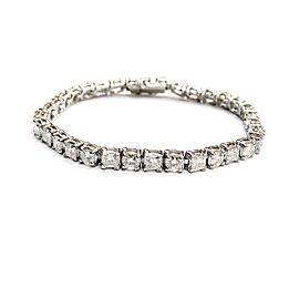 Platinum with 15.64ct. Diamond Tennis Bracelet