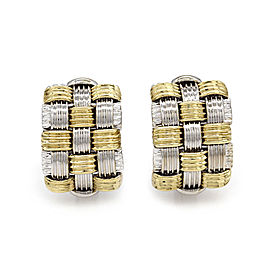 Roberto Coin Appassionata 18K White & Yellow Gold Earrings