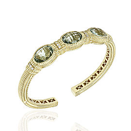 Exquisite Judith Ripka Prasiolite & Diamond Bracelet in 18k Yellow Gold | SJS