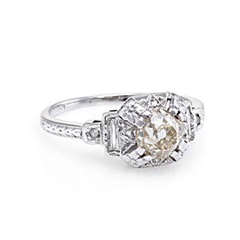 14K White Gold with 0.55ct. Diamond Ring Size 3.25