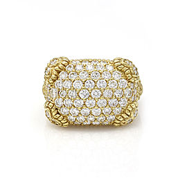Judith Ripka 18K Yellow Gold with 3.33ctw Diamond Ring Size 6.75