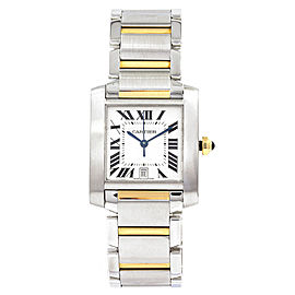 Cartier Tank Francaise 2302 28mm Mens Watch