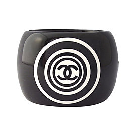 Chanel Coco Mark Plastic Bangle Bracelet