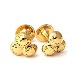 Louis Vuitton Gold Tone Cufflinks
