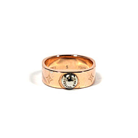 Louis Vuitton Nanogram Rose Gold & Silver Tone Ring