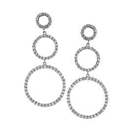 Roberto Coin Pave 18K White Gold Diamond Earrings