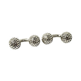 Hermes 925 Sterling Silver Golf Ball Cufflinks