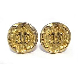Chanel Coco Mark Gold Tone Hardware Earrings