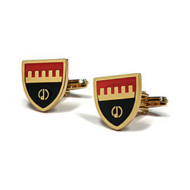 Dunhill Gold Tone Shield Cufflinks