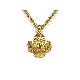 Chanel Gold Tone Hardware Pendant Necklace