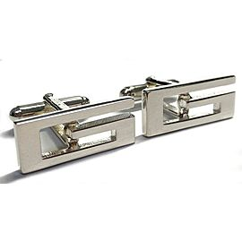 Gucci 925 Sterling Silver G Cufflinks