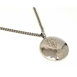 Gucci 925 Sterling Silver Crest Pendant Necklace