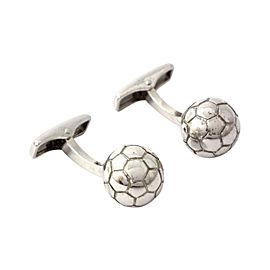 Dunhill 925 Sterling Silver Soccer Ball Cufflinks