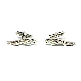 Jaguar Silver Tone Cufflinks