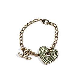Chanel Coco Mark Gold Tone Bracelet