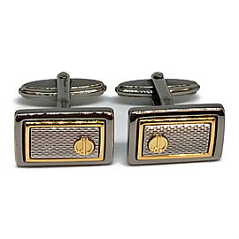 Dunhill Stainless Steel Gold Tone Cufflinks