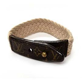 Louis Vuitton Canvas Leather Bracelet