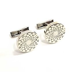 Bulgari Sterling Silver Cufflinks