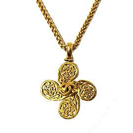 Chanel Coco Gold Tone Vintage Necklace
