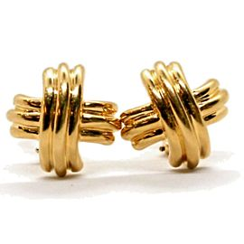 Tiffany & Co. Signature X Cross Earrings 18K Yellow Gold