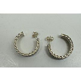 Tiffany & Co. Mesh Somerset Hoop Sterling Silver Earrings