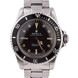Rolex Submariner 5511 Vintage 40mm Mens Watch