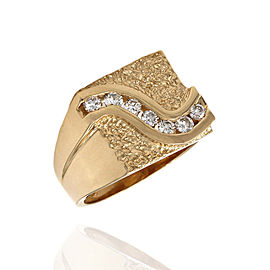 14K Yellow Gold Diamond Ring Size 9