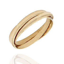 18K Yellow Gold Ring Size 8.5