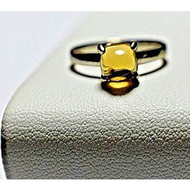 Tiffany & Co. Paloma Picasso Sterling Silver Citrine Ring Size 6.5