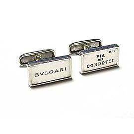 Bulgari Sterling Silver Cufflinks