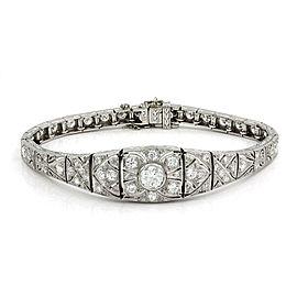 Vintage Diamond Bracelet in Platinum | FJ-B