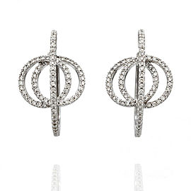 Diamond Pave Hoop Earrings in Gold | FJ-B